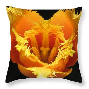 Fancy Frills Tulip Throw Pillow