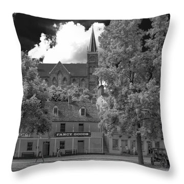 Fancy Goods Throw Pillow by Guy Whiteley