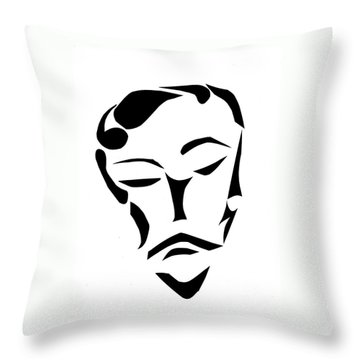 Throw Pillow featuring the digital art Fancy Man by Delin Colon
