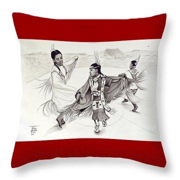 Fancy Shawl Dance Throw Pillow
