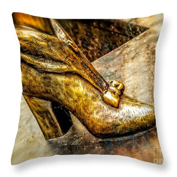 Fancy Shoe Throw Pillow