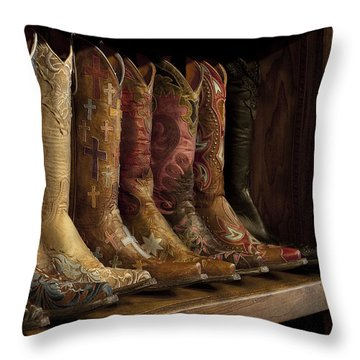 3e7c002db00 Cowboy Boot Throw Pillows | Fine Art America