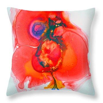 Throw Pillow featuring the painting Fandango II by Joan Hartenstein