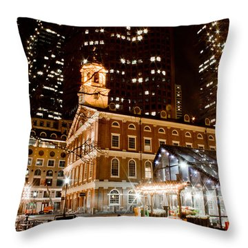 Faneuil Hall Boston Ma  Throw Pillow