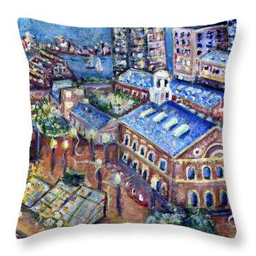 Faneuil Hall Throw Pillow by Jason Gluskin