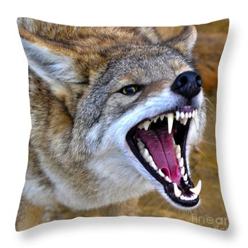 Fangs Throw Pillow