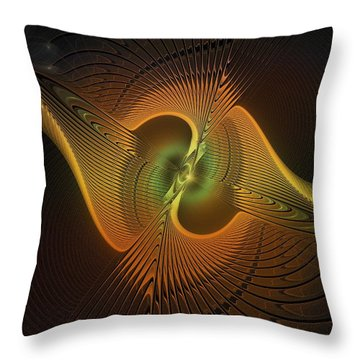 Fanned Out Throw Pillow by Amanda Moore