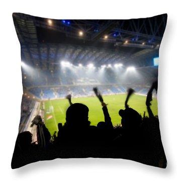 Fans Celebrating Goal Throw Pillow by Michal Bednarek