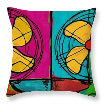 Fans In A Row Throw Pillow by Dale Moses