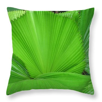 Fans Of Green Throw Pillow