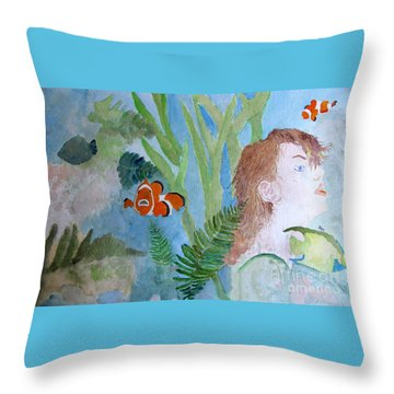 Fantasia 1 Throw Pillow by Sandy McIntire