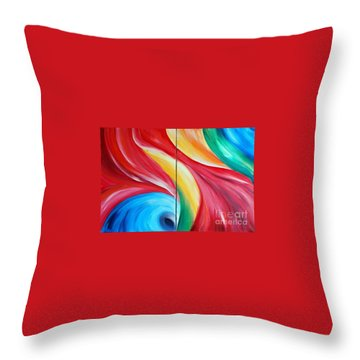 Fantasia 2 Throw Pillow by Teresa Wegrzyn