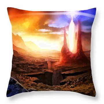Fantasia Throw Pillow by Mo T