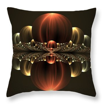 Throw Pillow featuring the digital art Fantastic Skyline by Gabiw Art