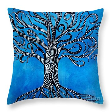 Fantastical Tree Of Life Throw Pillow
