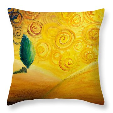 Fantasy Art - Lonely Tree Throw Pillow by Nirdesha Munasinghe