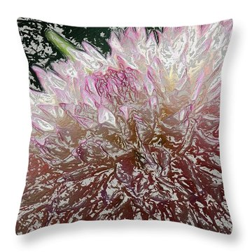Throw Pillow featuring the photograph Fantasy Dahlia by Denyse Duhaime