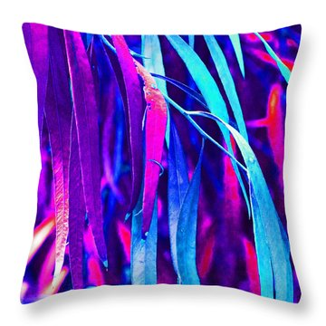 Fantasy Eucalypt Leaves Throw Pillow