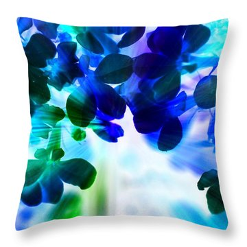 Throw Pillow featuring the photograph Fantasy Florals by Denise Tomasura