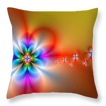 Fantasy Flowers 2 Throw Pillow by Ester  Rogers