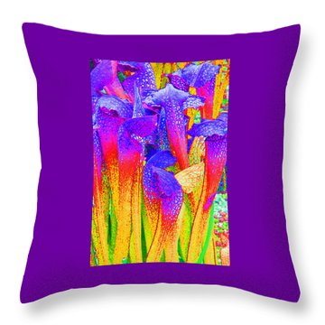 Fantasy Flowers Throw Pillow