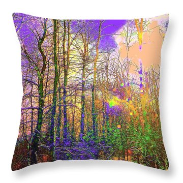 Throw Pillow featuring the photograph Fantasy Forest by Jodie Marie Anne Richardson Traugott          aka jm-ART