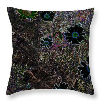 Fantasy Garden No. 1 Throw Pillow by Cathy Peterson