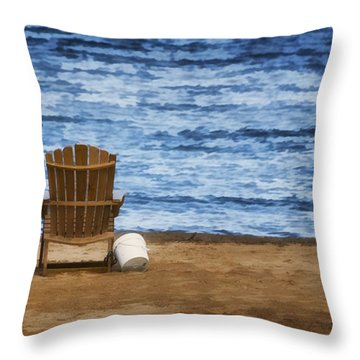 Fantasy Getaway Throw Pillow by Joan Carroll