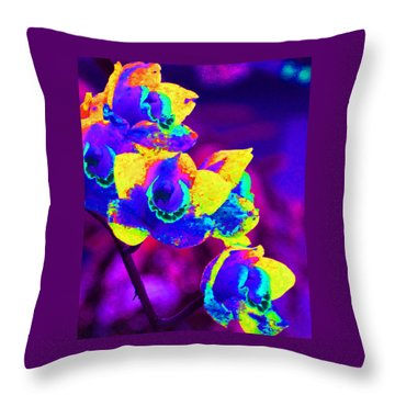 Fantasy Orchids 2 Throw Pillow