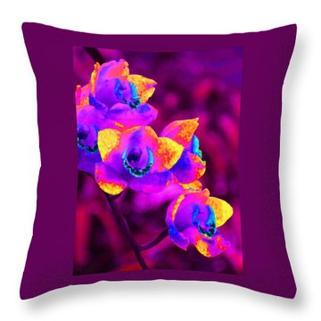 Fantasy Orchids Throw Pillow