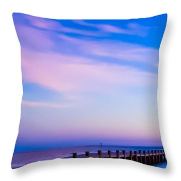 Fantasy Pier Throw Pillow