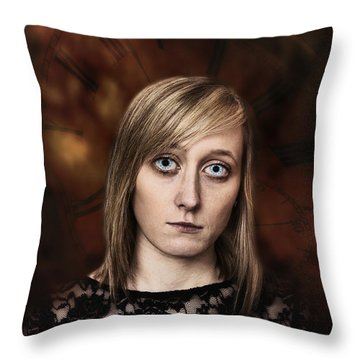 Fantasy Portrait Throw Pillow by Amanda Elwell