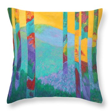 Fantasy Ridge Throw Pillow by Nancy Jolley