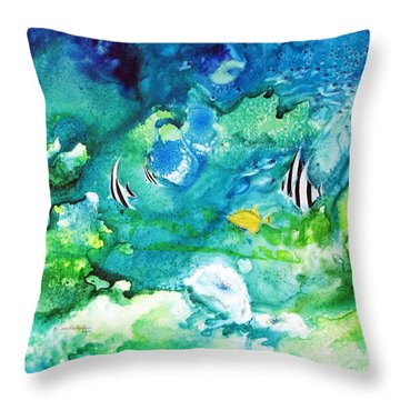 Fantasy Sea Throw Pillow