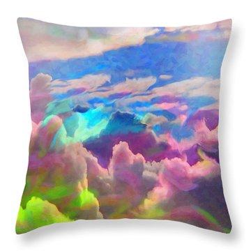 Abstract Fantasy Sky Throw Pillow