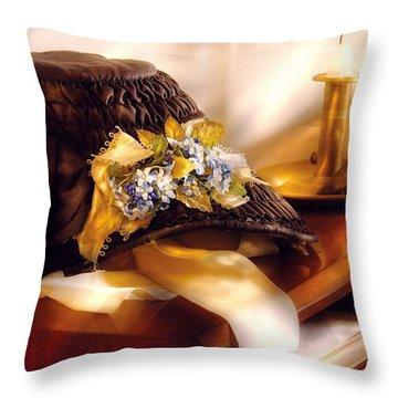 Fantasy - The Widows Bonnet  Throw Pillow by Mike Savad