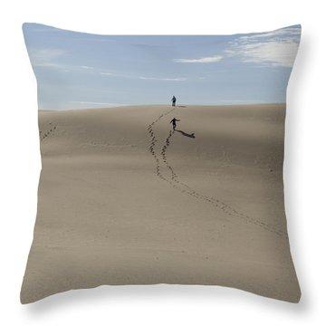 Throw Pillow featuring the photograph Far Away In The Sand by Tara Lynn