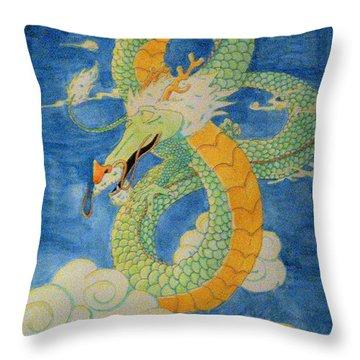 Far East Wind Rider Throw Pillow