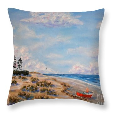 Far From The Madding Crowd Throw Pillow by Stanton Allaben