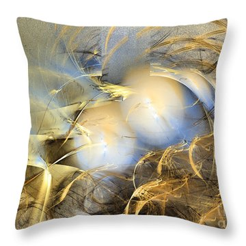Far From The Treacherous World - Abstract Art Throw Pillow