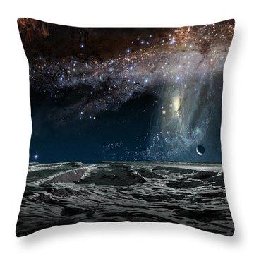 Far Future Earth Throw Pillow by Don Dixon
