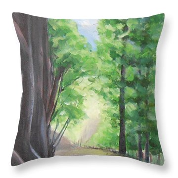Faraway Throw Pillow