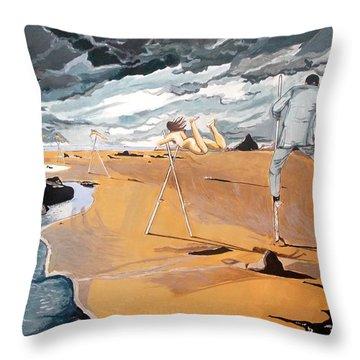 Faraway Lejanias Throw Pillow by Lazaro Hurtado
