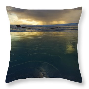 Throw Pillow featuring the photograph Faraway Rain by Adria Trail