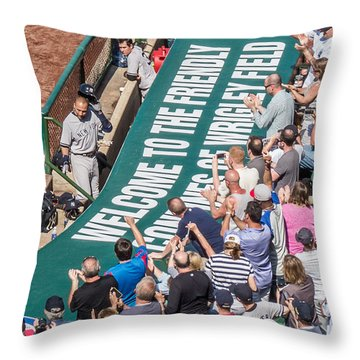Farewell From The Wrigley Faithful Throw Pillow by Tom Gort