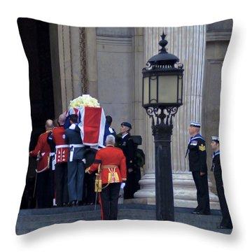 Farewell Lady T Throw Pillow by Maj Seda