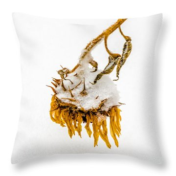 Farewell Sunflower Throw Pillow