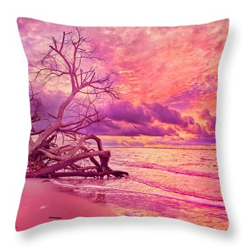 Farewell To The Day Throw Pillow by Betsy Knapp