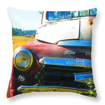 Fargo Red And White Throw Pillow