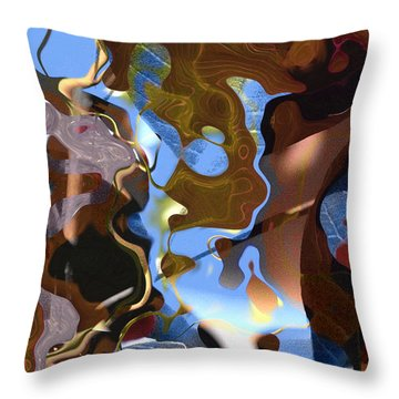 Throw Pillow featuring the digital art Fargo by Richard Thomas